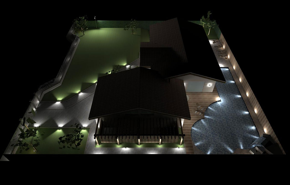 Villa piacenza naldi illuminazione